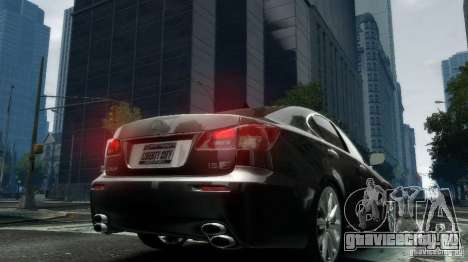 Lexus IS-F для GTA 4 вид сзади слева