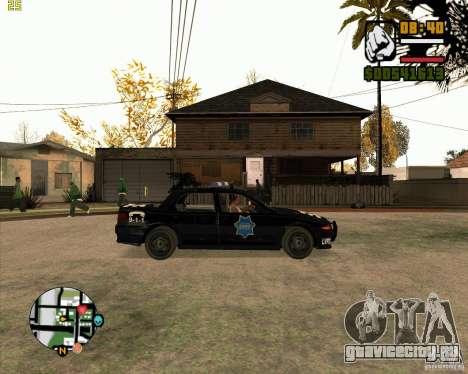Полицейская тачка из NFS: MW для GTA San Andreas вид сзади слева