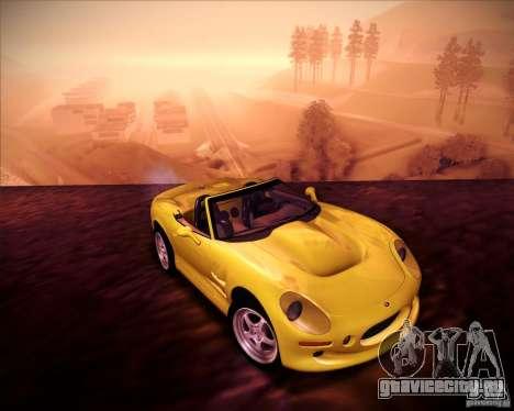 Shelby Series One 1998 для GTA San Andreas вид сзади