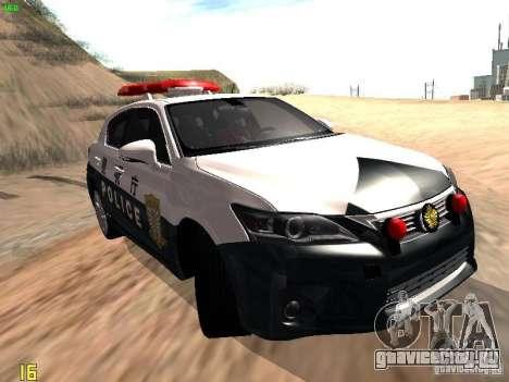 Lexus CT200H Japanese Police для GTA San Andreas вид сзади слева