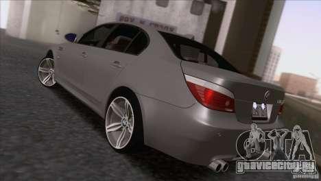BMW M5 E60 2009 для GTA San Andreas вид слева