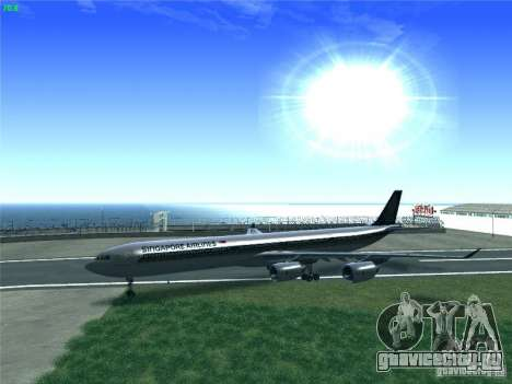 Airbus A340-600 Singapore Airlines для GTA San Andreas