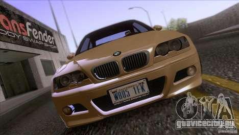 BMW M3 E48 для GTA San Andreas вид изнутри