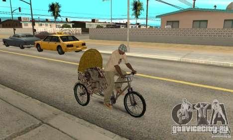 Manual Rickshaw v2 Skin4 для GTA San Andreas вид справа