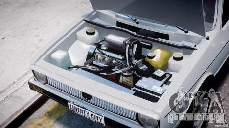 Volkswagen Golf Mk1 для GTA 4 вид изнутри
