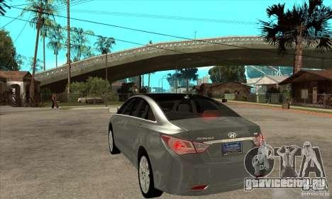 Hyundai Sonata 2011 для GTA San Andreas вид сзади слева