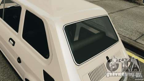 Fiat 126 Classic для GTA 4 вид сзади