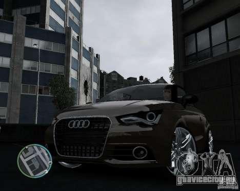 Audi A1 v.2.0 для GTA 4 вид сзади слева