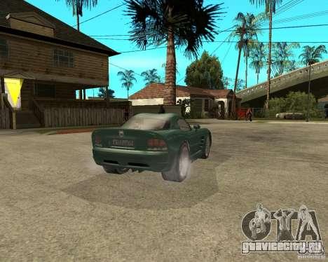 Dodge Viper Srt 10 для GTA San Andreas вид сзади слева