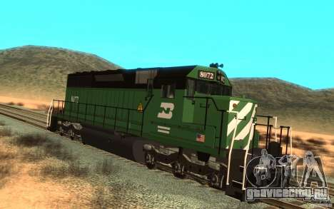 Локомотив SD 40 Burlington Northern 8072 для GTA San Andreas