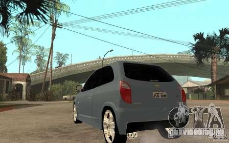 Chevrolet Celta VHC 2011 для GTA San Andreas вид сзади слева