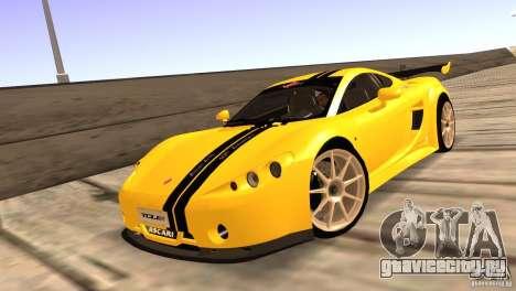 Ascari A10 для GTA San Andreas вид изнутри