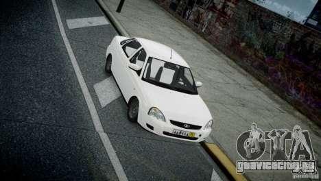 Лада Приора для GTA 4 вид изнутри