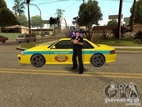 Sultan USSR Police для GTA San Andreas вид сзади слева