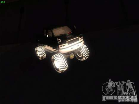 GMC Monster Truck для GTA San Andreas вид сзади слева