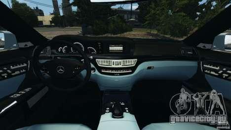 Mercedes-Benz S65 AMG 2012 v1.0 для GTA 4 вид изнутри