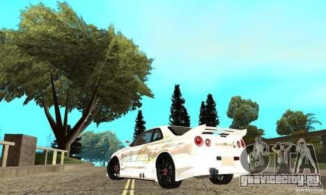Nissan SkyLine R34 Tunable V2 для GTA San Andreas