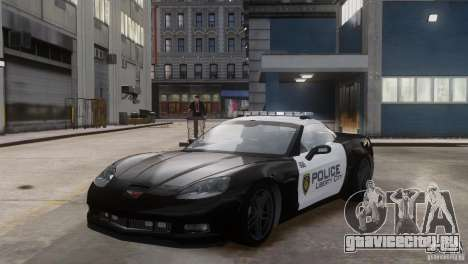 Chevrolet Corvette LCPD Pursuit Unit для GTA 4 вид сзади