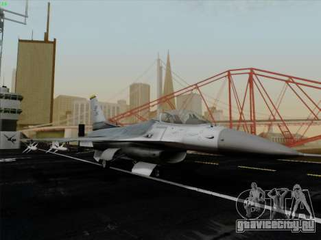 F-16C Warwolf для GTA San Andreas вид изнутри