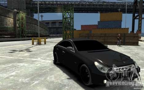 Mercedes Benz CLS Brabus Rocket 2008 для GTA 4 вид сзади
