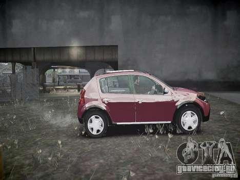 Dacia Sandero Stepway для GTA 4 вид изнутри
