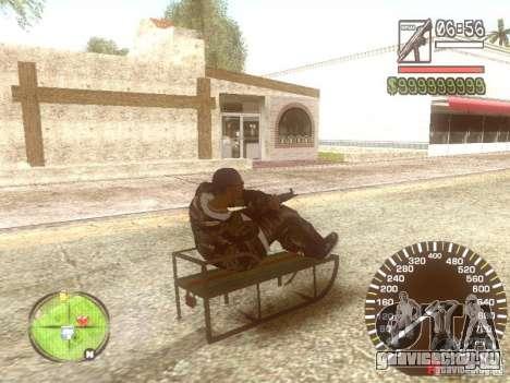 Сани для GTA San Andreas вид сверху