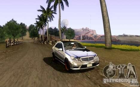 Mercedes Benz E63 DUB для GTA San Andreas вид сбоку