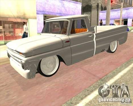 Chevrolet C10 1966 Low Gray для GTA San Andreas