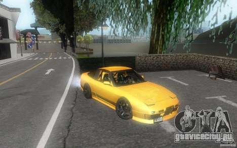 Nissan 180sx v2 для GTA San Andreas вид изнутри