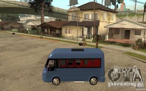 Karsan J10 для GTA San Andreas вид слева