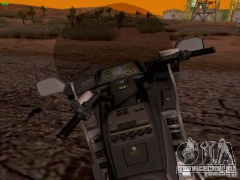 Honda Goldwing GL 1500 1990 г. для GTA San Andreas вид сверху
