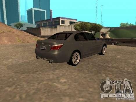 BMW M5 E60 2009 v2 для GTA San Andreas вид слева