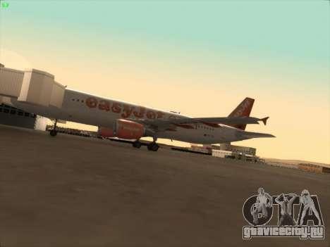 Airbus A320-214 EasyJet для GTA San Andreas вид сверху
