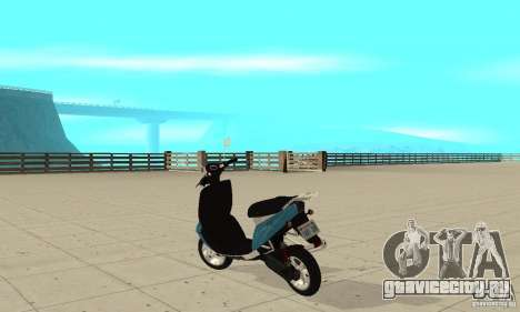 GTAIV Faggio для GTA San Andreas вид сзади слева