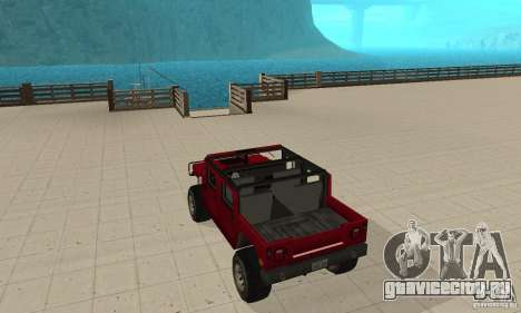 Hummer Civilian Vehicle 1986 для GTA San Andreas вид сзади слева