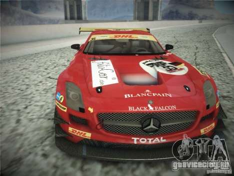 Mercedes-Benz SLS AMG GT3 Black Falcon 2011 для GTA San Andreas вид слева