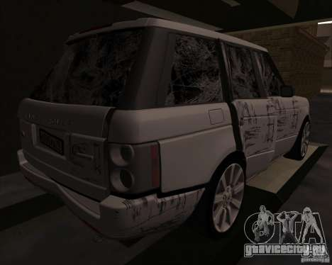 Land Rover Range Rover Supercharged для GTA San Andreas вид изнутри