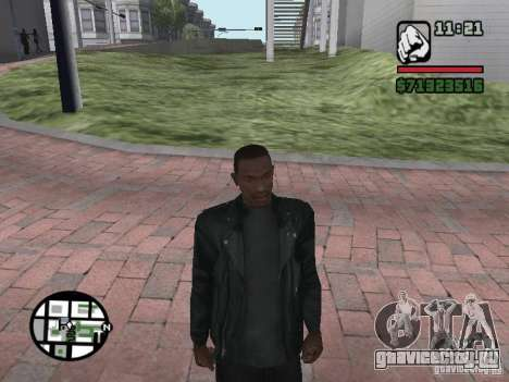 Куртка без рисунка сзади для GTA San Andreas второй скриншот
