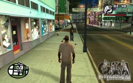 Кидаться в прохожих мусором для GTA San Andreas второй скриншот