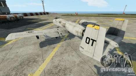 A-10A Thunderbolt II для GTA 4 вид сзади слева