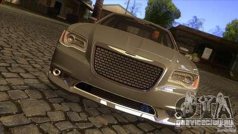 Chrysler 300 SRT-8 2011 V1.0 для GTA San Andreas вид изнутри