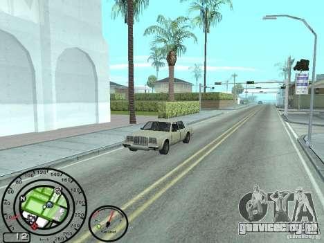 Спидометр с датчиком топлива для GTA San Andreas второй скриншот