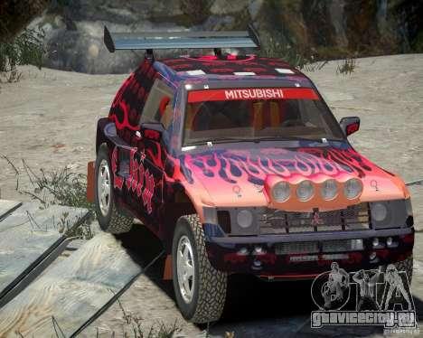 Mitsubishi Pajero Proto Dakar EK86 Винил 4 для GTA 4 вид сверху