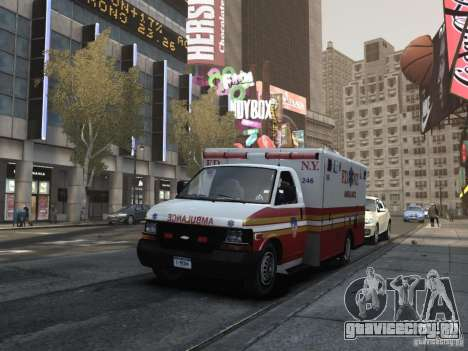 Chevrolet Ambulance FDNY v1.3 для GTA 4 вид изнутри