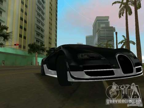 Bugatti Veyron Extreme Sport для GTA Vice City вид слева