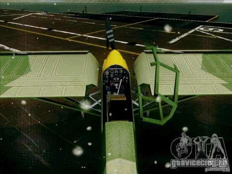 Fi-156 для GTA San Andreas вид изнутри