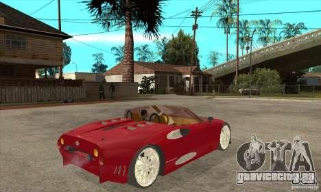 Spyker C8 Spyder для GTA San Andreas вид справа