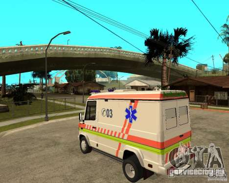 Mercedes-Benz Vario 512 D Ambulamce для GTA San Andreas вид слева