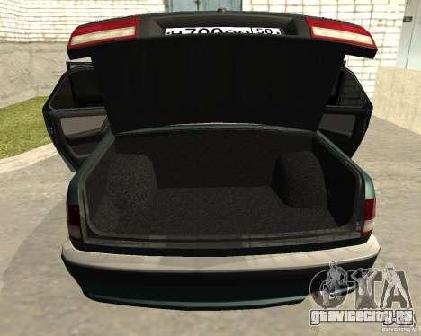 ГАЗ Волга 3110 для GTA San Andreas вид изнутри