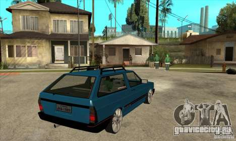 VW Parati GLS 1989 JHAcker edition для GTA San Andreas вид справа